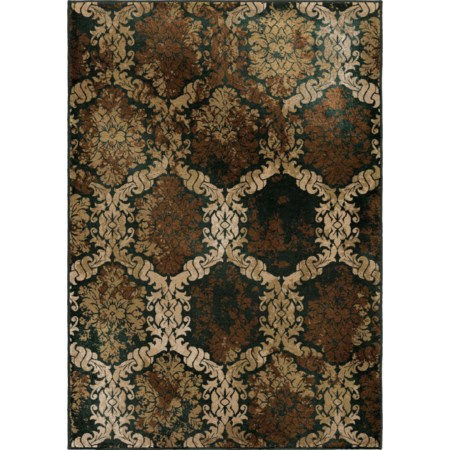 "Oxfordburst Licorice 5'3"" x 7'6"" Rug"