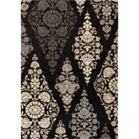 "Trellis Patch Black 5'3"" x 7'6"" Rug"