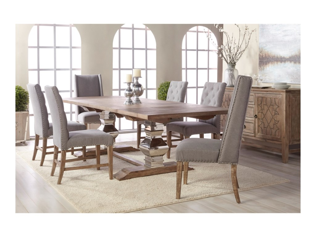 Orient Express Furniture Traditions 6095.STL/GW Manor Trestle Dining ...