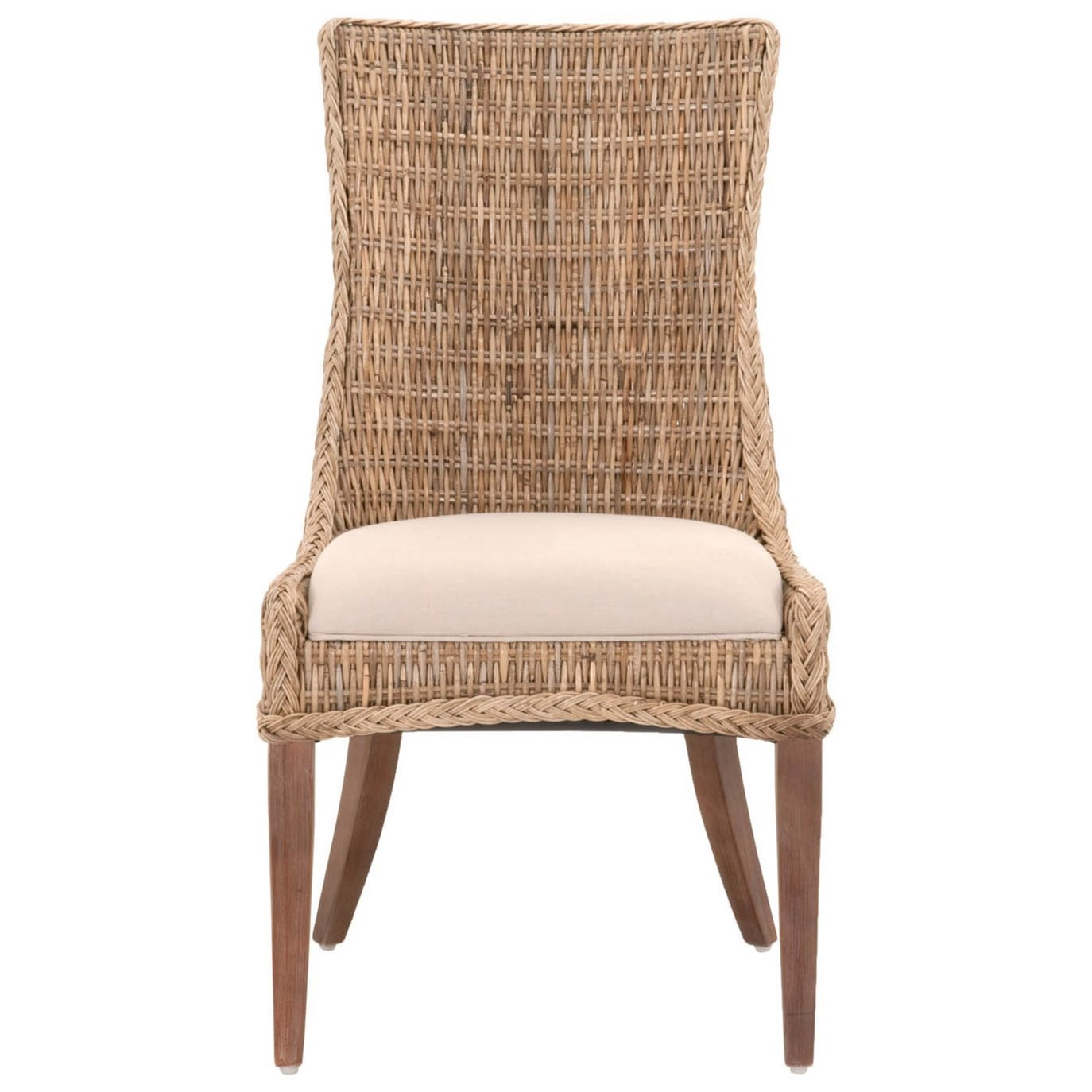 Wicker Greco Woven Wicker Dining Chair With Upholstered Seat By Orient  Express Furniture At Baeru0027s Furniture
