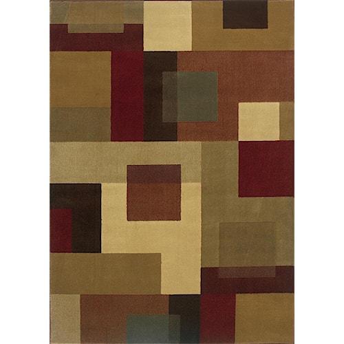 Oriental Weavers Amy Geometric 5 x 7.6 Area Rug : Multi