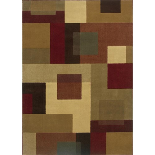 Oriental Weavers Amy Geometric 9.10 x 12.9 Area Rug : Multi