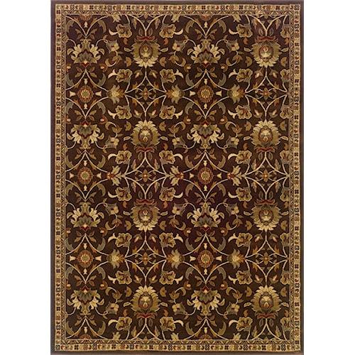 Oriental Weavers Amy 8.2 X 10 Area Rug : Brown