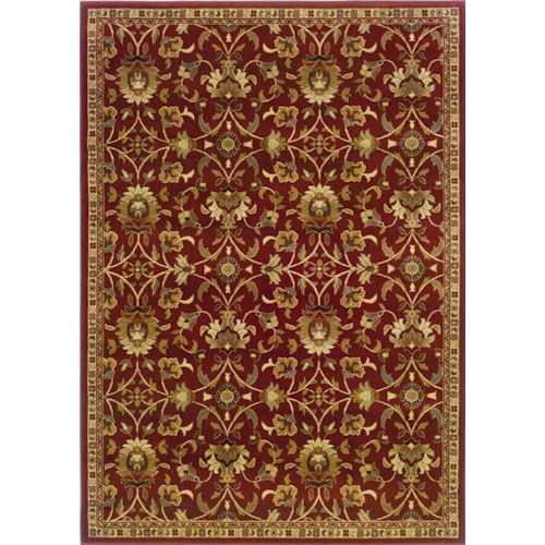 Oriental Weavers Amy Floral 5 x 7.6 Area Rug : Red