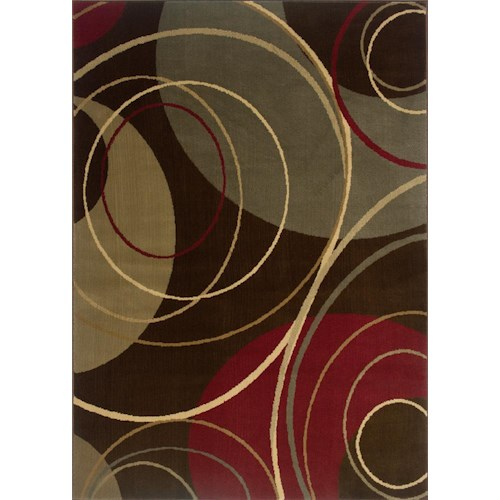 Oriental Weavers Amy 5.3 x 7.6 Area Rug : Multi Brown