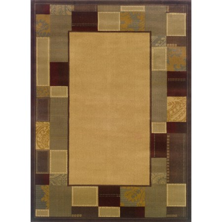 5 x 7.6 Area Rug : Gold