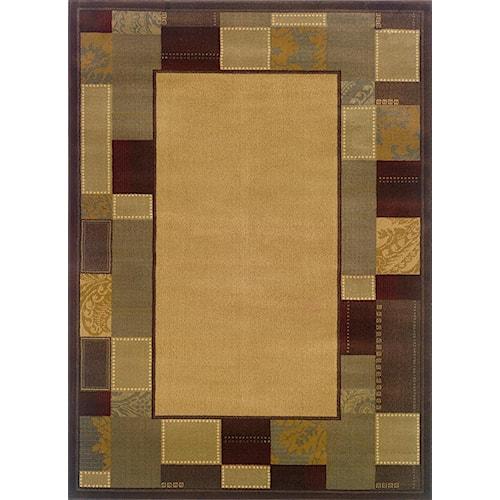 Oriental Weavers Amy 5 x 7.6 Area Rug : Gold