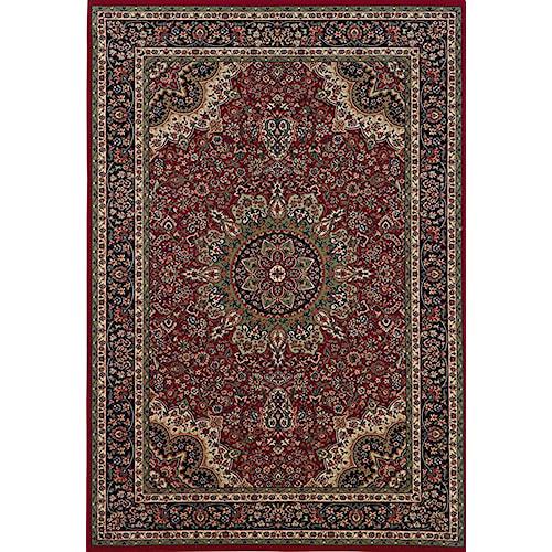 Oriental Weavers Aspire 6.7 x 9.6 Area Rug : Red/Black