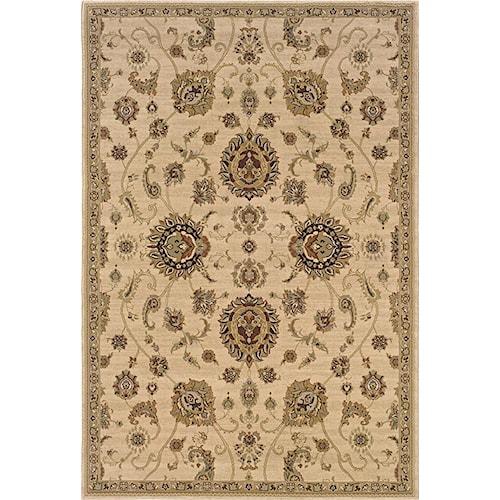 Oriental Weavers Aspire  5.3 x 7.9 Area Rug : Tan
