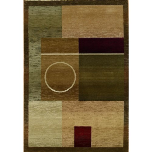 Oriental Weavers Glory Geometric 5.3 x 7.6 Area Rug : Multi