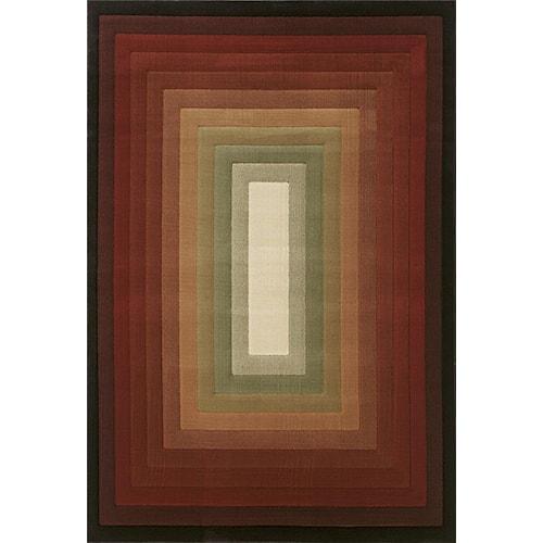 Oriental Weavers Grandeur 8 x 11 Area Rug : Brown/Ivory