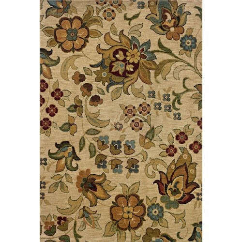 Oriental Weavers Inkus  5.3 x 7.6 Area Rug : Beige
