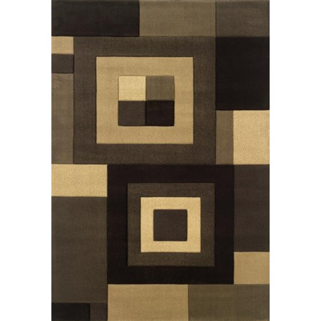 5.3 x 7.9 Area Rug : Medium Brown