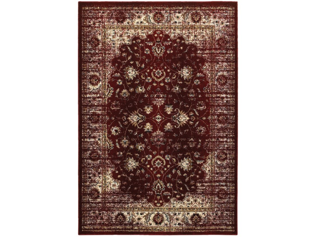 Oriental Weavers Empire 2 3 X 7 6 Traditional Red Ivory Runner Rug