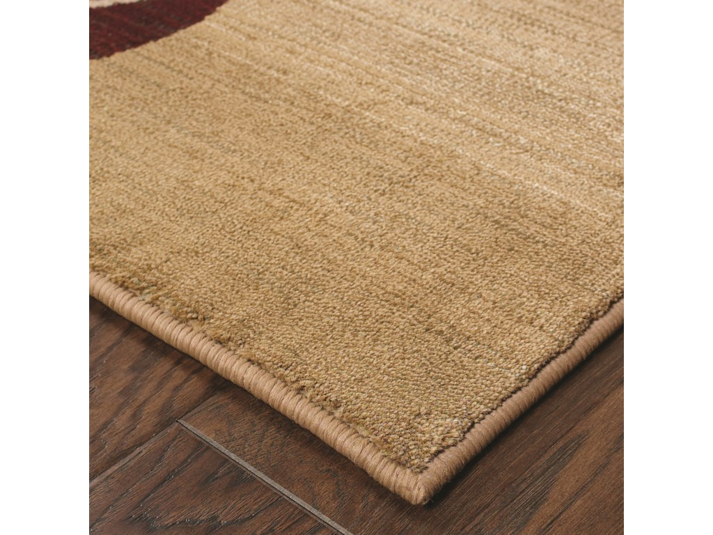 Oriental Weavers Generations8' Contemporary Beige/ Red Square Rug