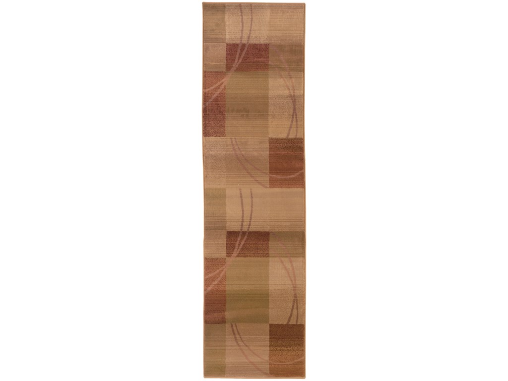Oriental Weavers Generations8' Contemporary Beige/ Rust Square Rug