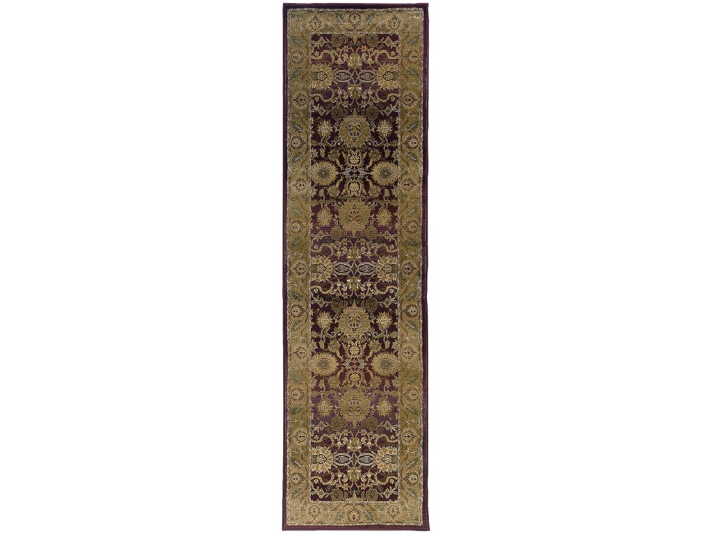 Oriental Weavers Generations8' Traditional Purple/ Gold Square Rug