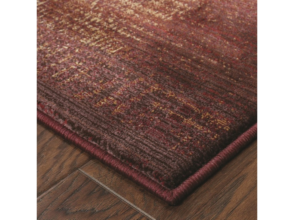 Oriental Weavers Generations8' Casual Red/ Beige Square Rug