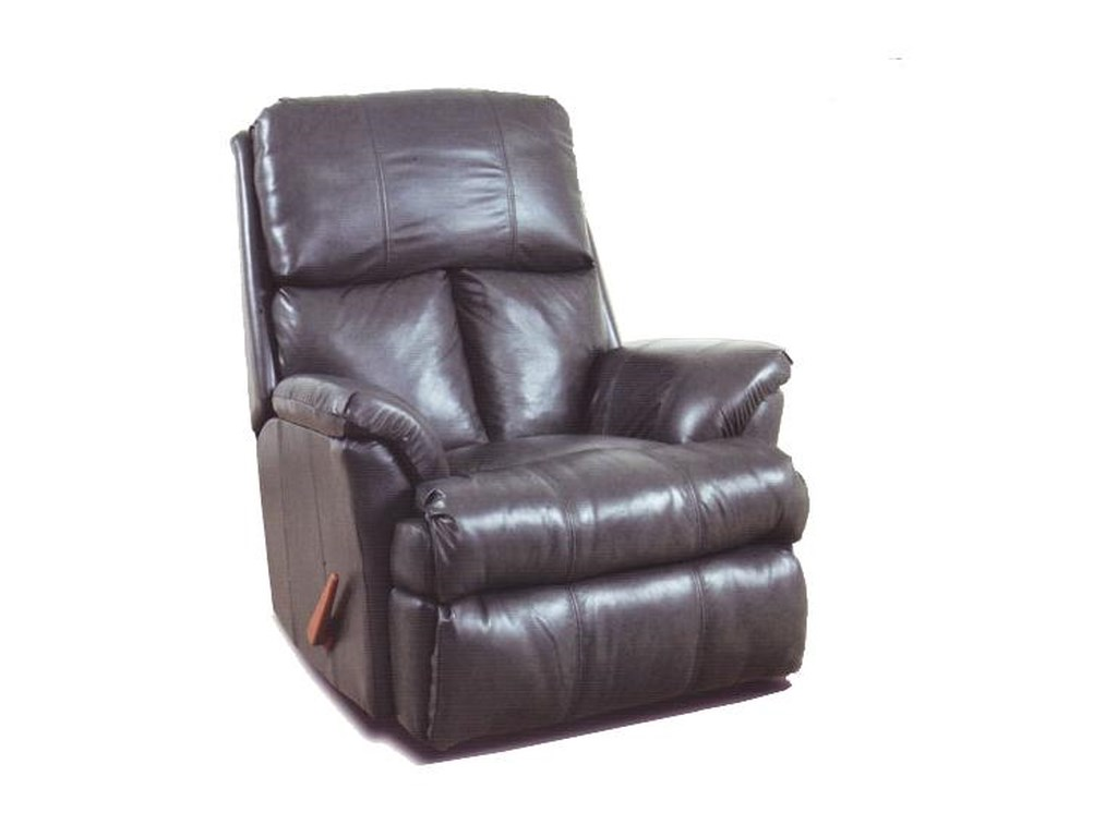Ort Manufacturing Reserve Seating100% Leather Chaise Rocker Recliner