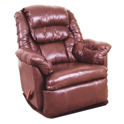 Ort Manufacturing Reserve Seating 100% Leather Rocker Recliner with Coil Seating