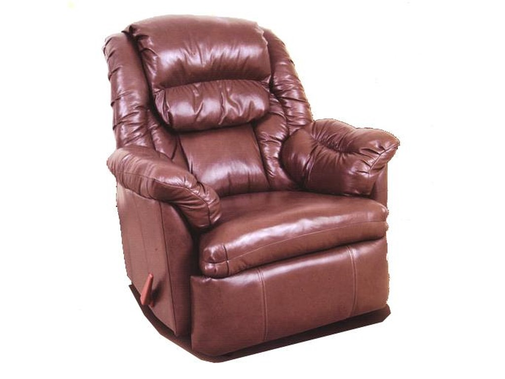 Ort Manufacturing Reserve Seating100% Leather Rocker Recliner w/ Coil Seating
