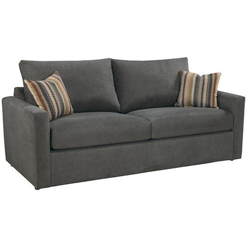 Overnight Sofa 44 Frame Queen Sleeper Sofa with Track Arms