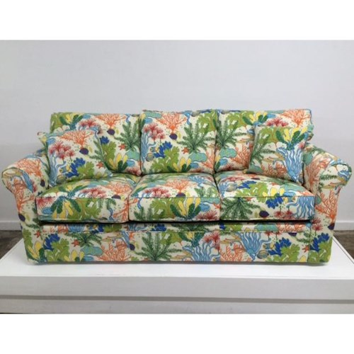 Overnight Sofa 48 Frame Casual Contemporary Queen Sleeper Sofa