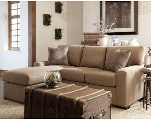 Overnight Sofa 51 Frame Casual Queen Sleeper Chaise with Track Arms