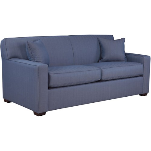Overnight Sofa 59 Frame Twin Sofa Sleeper with Tight Arms