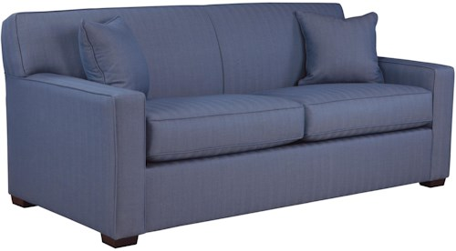 Overnight Sofa 59 Frame Queen Sofa Sleeper with Tight Arms