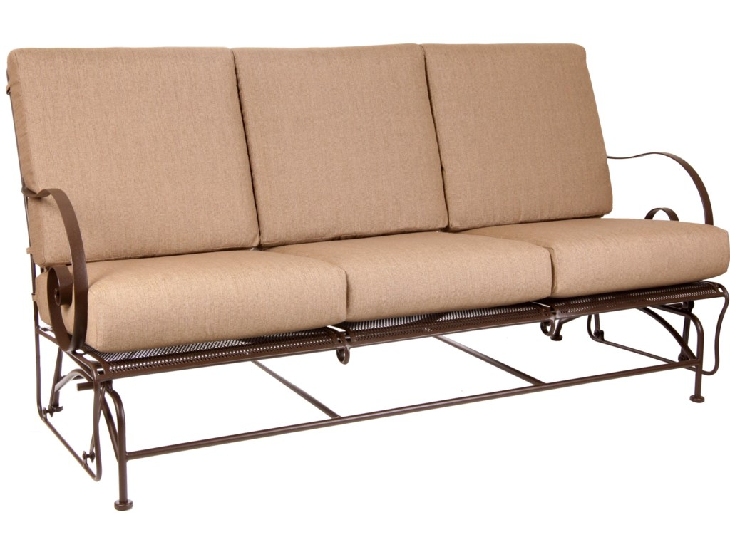O.W. Lee Avalon Glider Sofa with Curved Arms | Conlin\'s Furniture ...