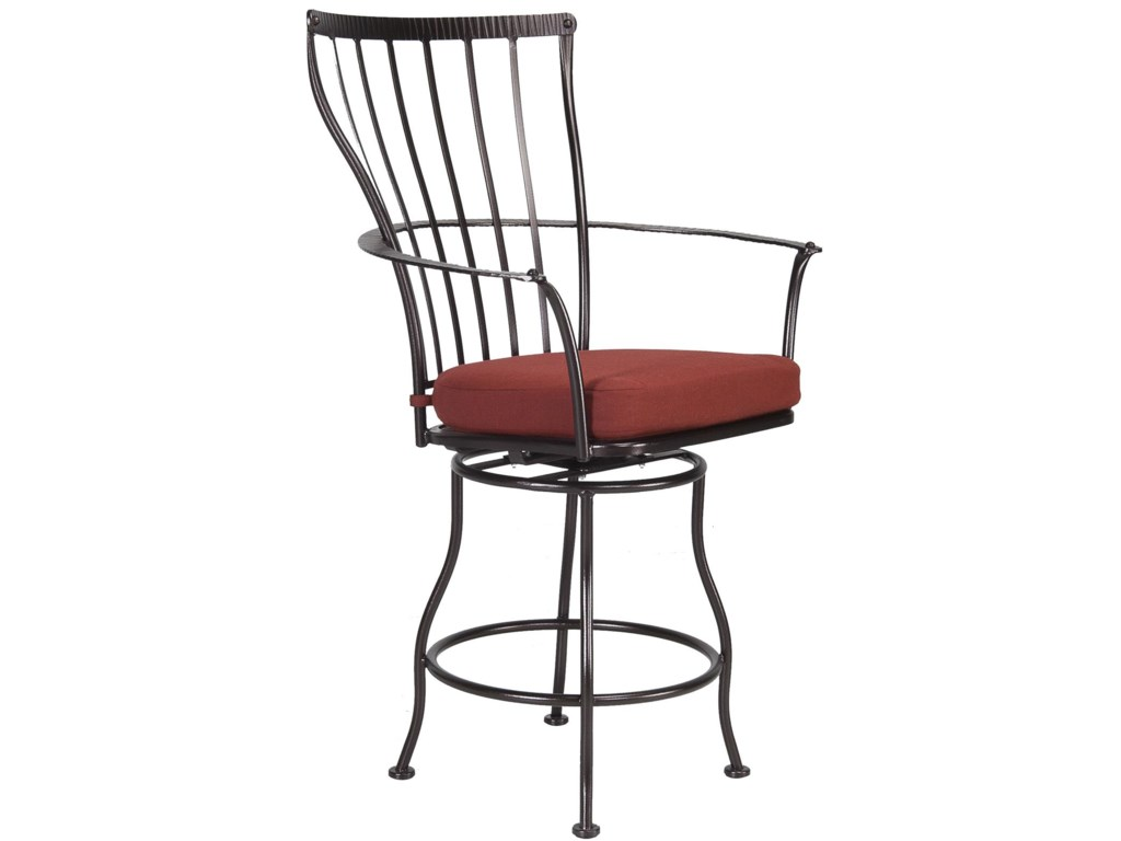 O.W. Lee Monterra Swivel Bar Stool with Arms