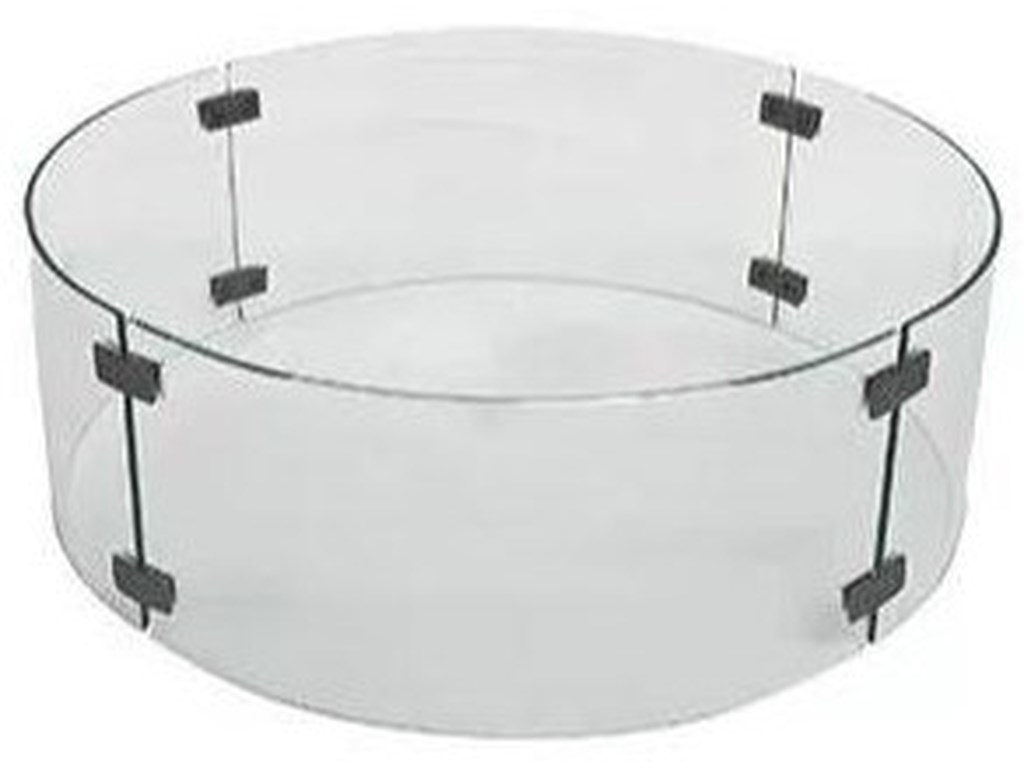 O.W. Lee Outdoor FurnitureLarge Round Glass Guard