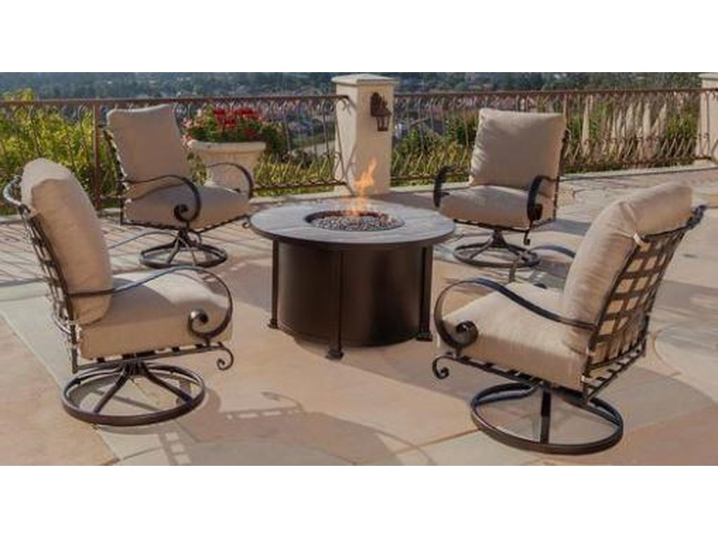 O.W. Lee SantoriniChat Height Fire Pit