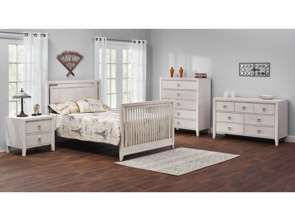 M Design Village AshtonWhite Full Bed Conversion Kit