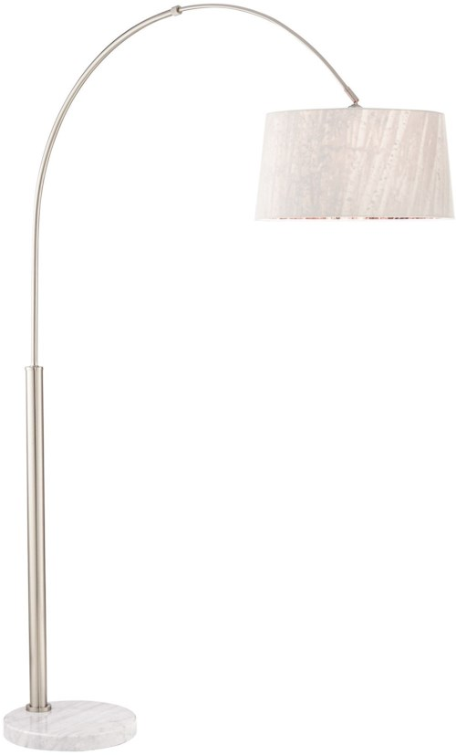 Pacific Coast Lighting Floor Lamps Arc Nickel 9K606 W/Tree Shd 9K601 Floor Lamp