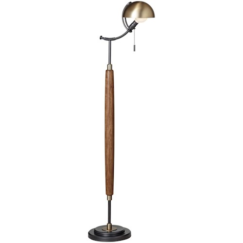 Pacific coast lighting floor lamps wood and metal modern dome floor pacific coast lighting floor lamps wood and metal modern dome floor lamp aloadofball Image collections