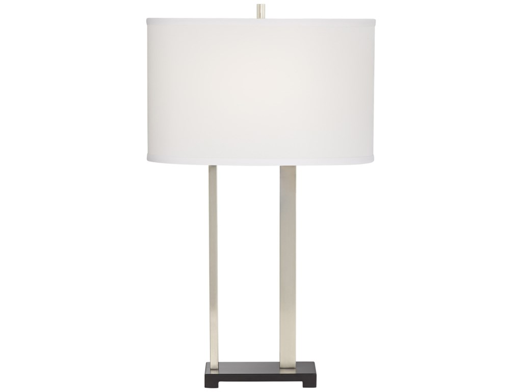 Table Lamps Finn Contemporary Lamp In Brushed Steel Finish By Pacific Coast Lighting At Miller Home