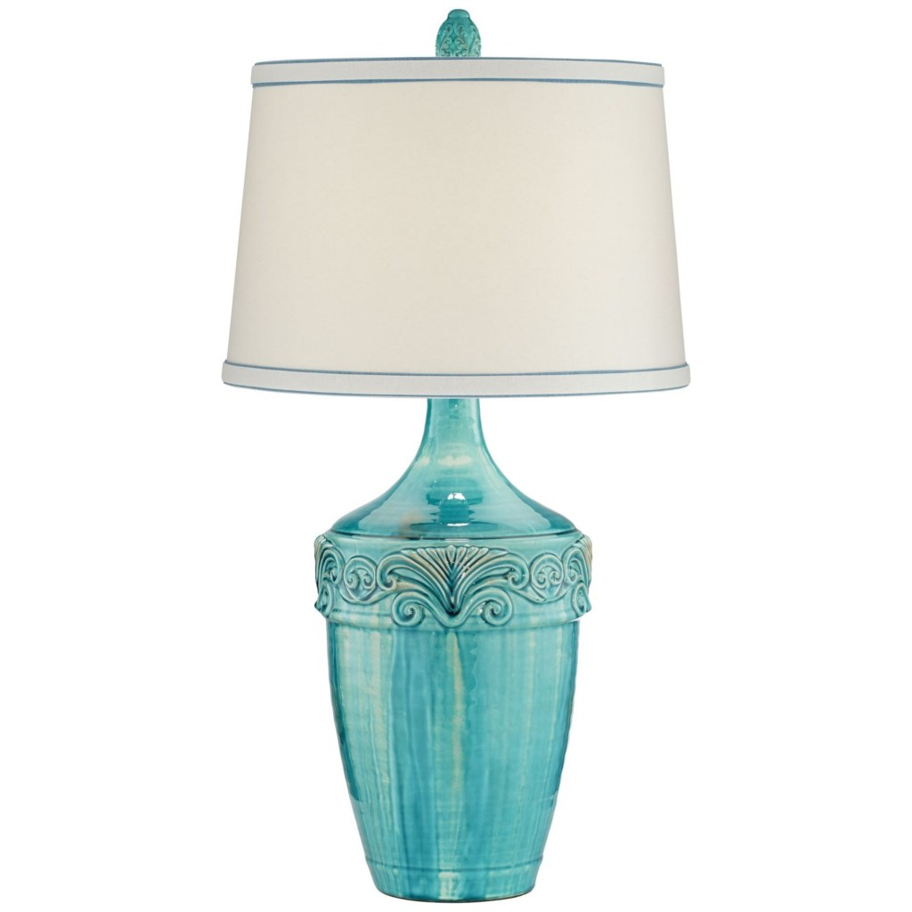 Pacific Coast Lighting Table Lamps 87 08310 64 Teal Ceramic Lamp