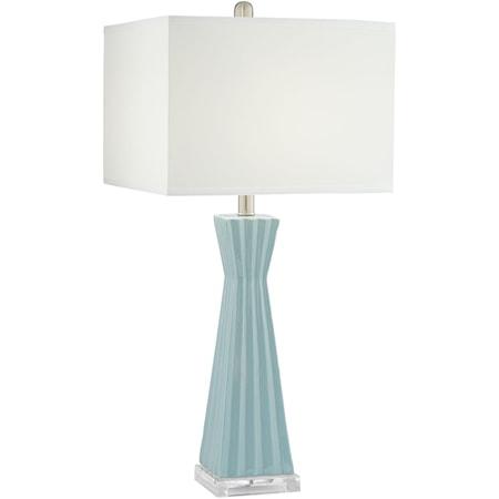 Square Column Ceramic Lamp