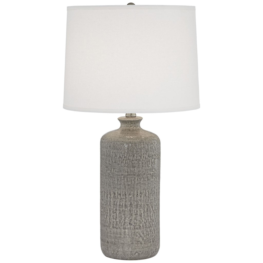 Pacific Coast Lighting Table Lamps 87 10254 78 French Grey Ceramic