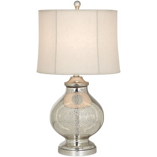 Pacific Coast Lighting Table Lamps Kathy Ireland Manhattan Modern - Silver Table Lamp