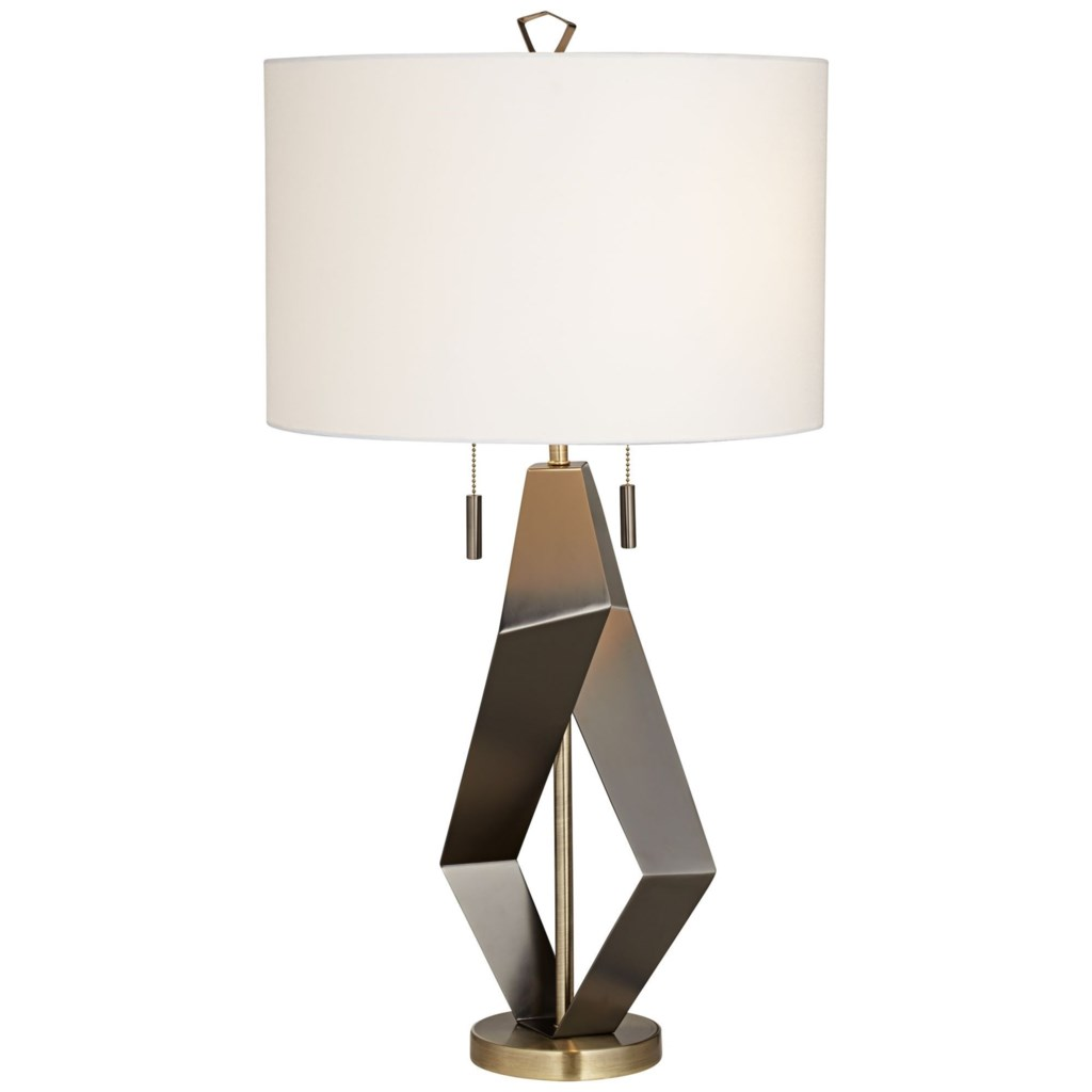 Pacific Coast Lighting Table Lamps 87 7736 07 Black Quadrant Table