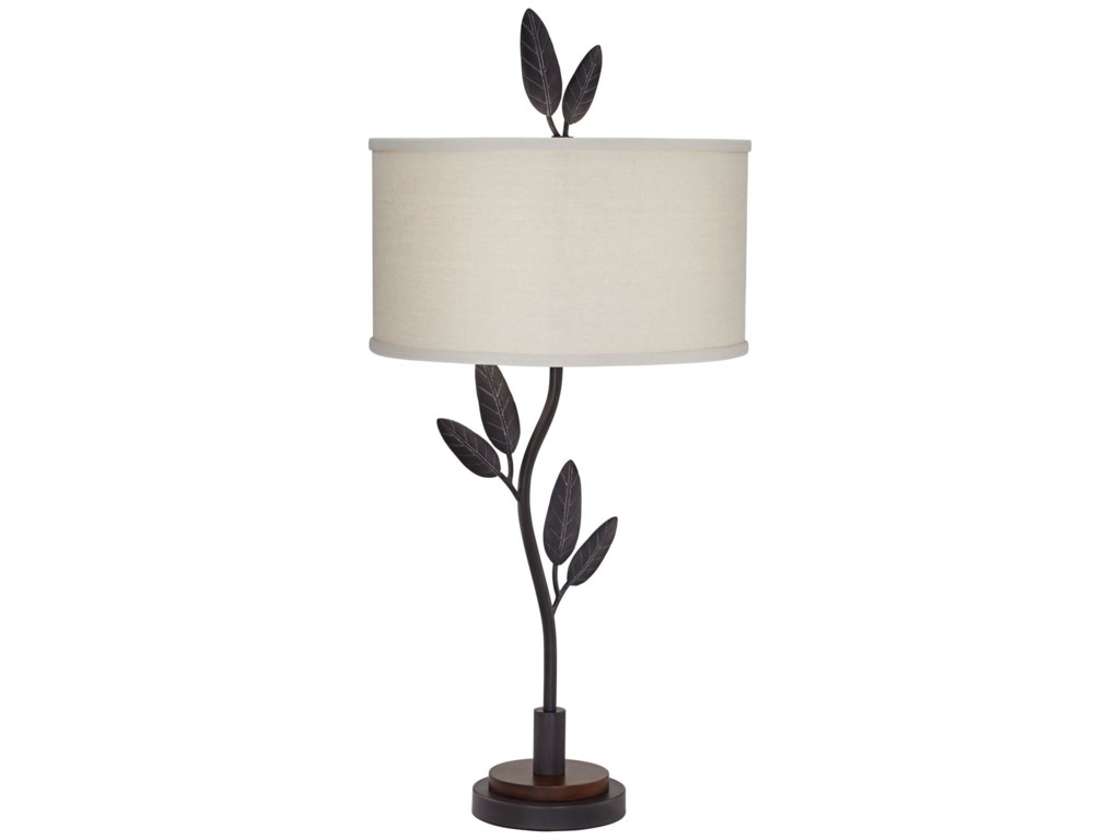 Pacific Coast Lighting Table LampsCast Iron Leaves And Twigs Table Lamp