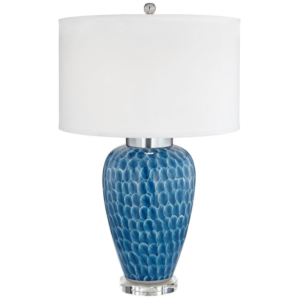 Pacific Coast Lighting Table Lamps Decorated Blue Ceramic Table Lamp