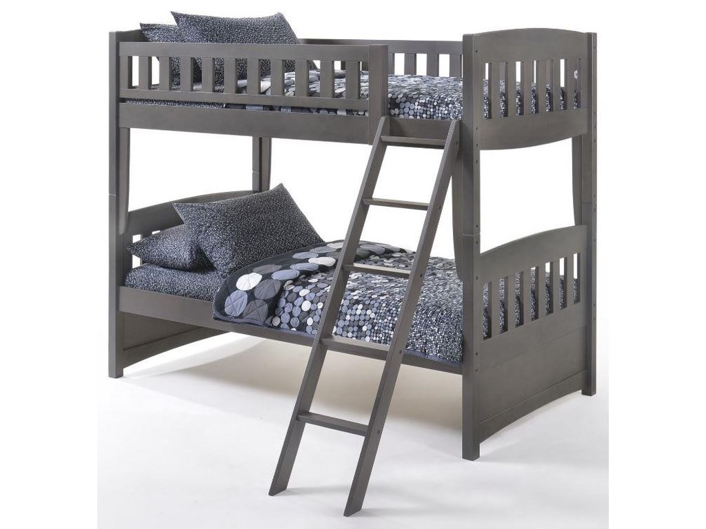 Pacific Manufacturing CinnamonTwin over Twin Bunkbed