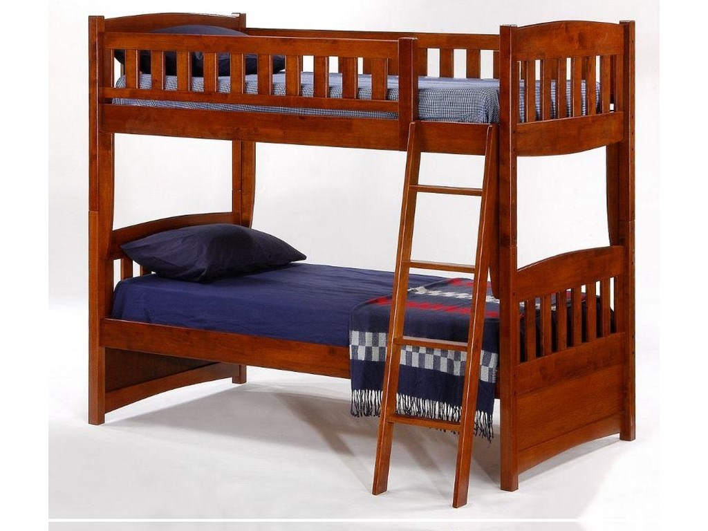 Pacific Manufacturing Cinnamon Twin over Twin Bunk Bed