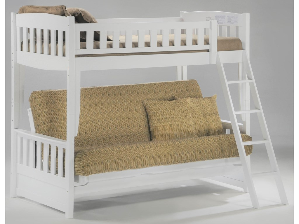 Pacific Manufacturing CinnamonTwin over Futon Bunkbed