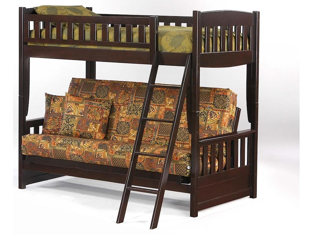 Night & Day Furniture SpiceTwin/Futon Bunkbed