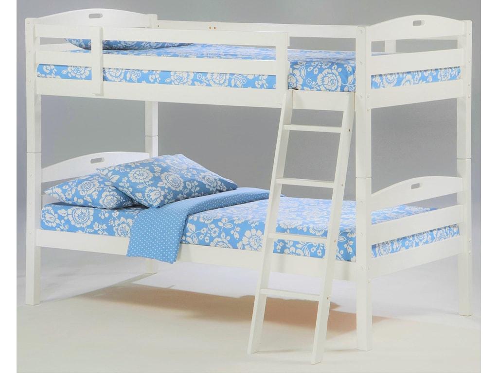 Night & Day Furniture ZestSesame Twin/Twin Bunkbed